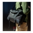 Topo Designs Commuter Briefcase Ballistic/Black Leather on shoulder