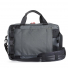 Topo Designs Commuter Briefcase Charcoal/Black Leather back