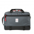 Topo Designs Commuter Briefcase Charcoal/Black Leather front