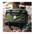 Topo Designs Commuter Briefcase Olive/Black Leather Lifestyle