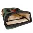 Topo Designs Klettersack Heritage Olive Canvas/Brown Leather inside