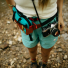 Topo Designs Mini Quick Pack Turquoise/Clay lifestyle with camera