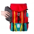 Topo Designs Mountain Pack Red side zippered pocket