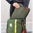 Topo Designs Pack Bag Olive Lifestyle