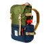 Topo Designs Rover Pack Classic Olive/Navy waterbottle