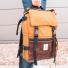 Topo Designs Rover Pack Heritage Duck Brown/Dark Brown Leather on crap handle