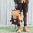 Topo Designs Rover Pack Heritage Duck Brown/Dark Brown Leather lifestyle
