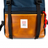 Topo Designs Rover Pack Heritage Navy/Brown Leather front detail