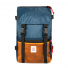 Topo Designs Rover Pack Heritage Navy/Brown Leather front