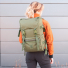 Topo Designs Rover Pack Tech Olive carrying