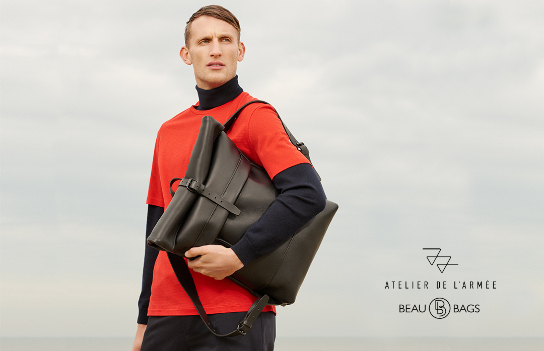 Atelier de l'Armée Commuter Pack All Leather Black