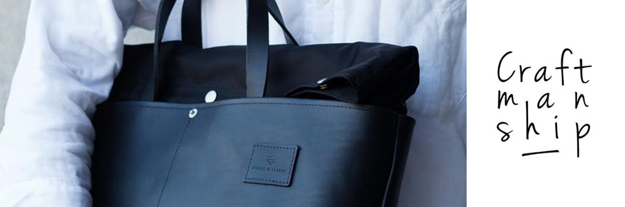 Atelier de l' Armée - Worker Briefcase - black leather