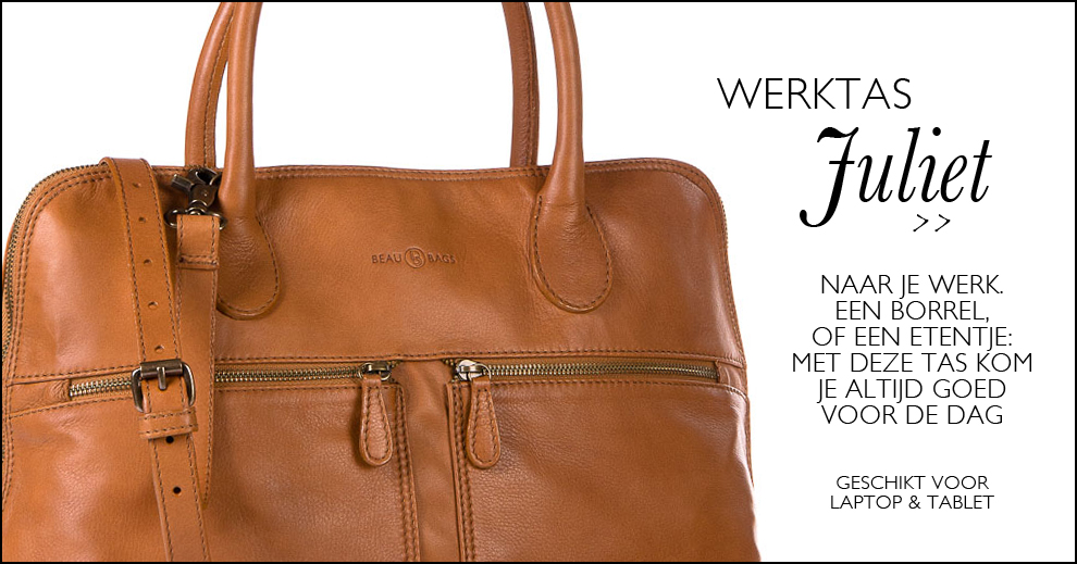 beaubags dames werktas Juliet cognac