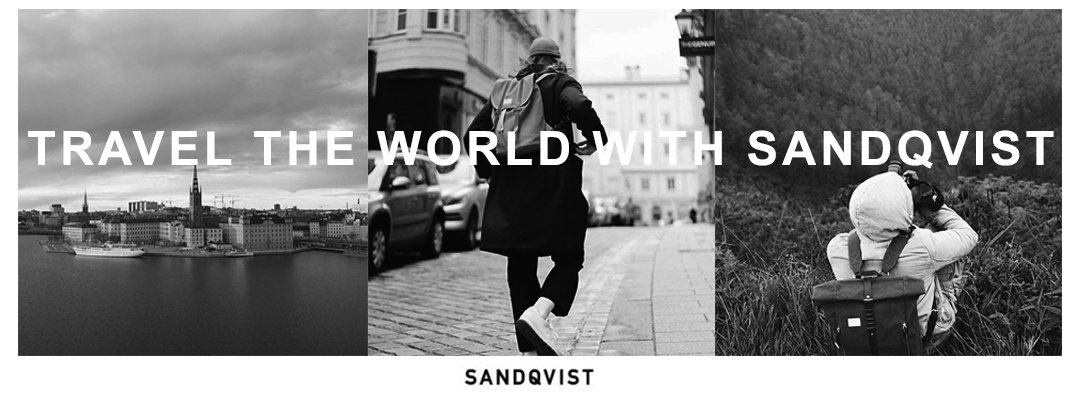 Sandqvist Backpack, traveling the world with Sandqvist bags
