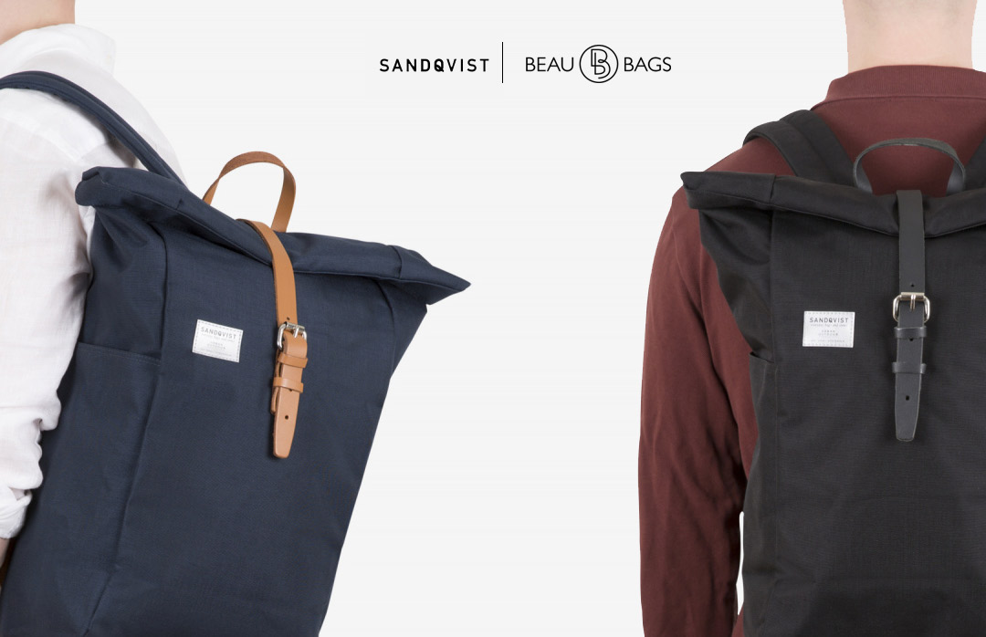 Sandqvist Silas backpack Blue and Black