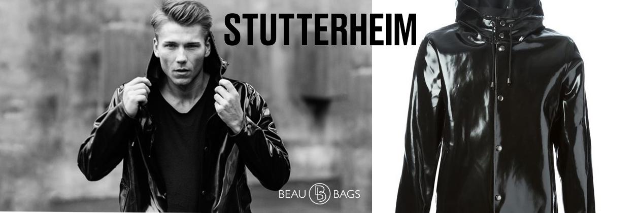 Stutterheim Stockholm Opal Black Stijlvolle Regenjas, tijdloze functionaliteit, 100% waterdicht!