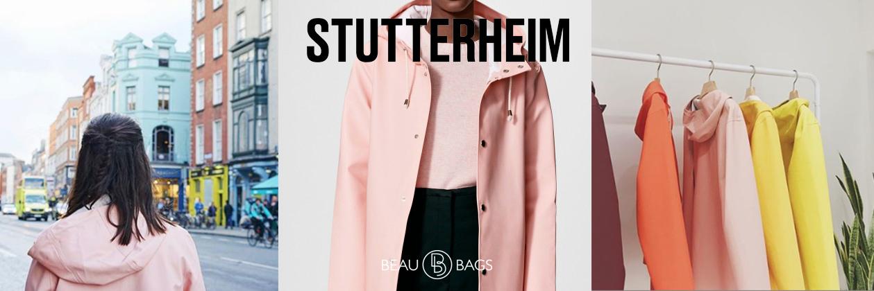 Stutterheim Stockholm Pale Pink, stijlvolle regenjas, uitzondelijke kwaliteit