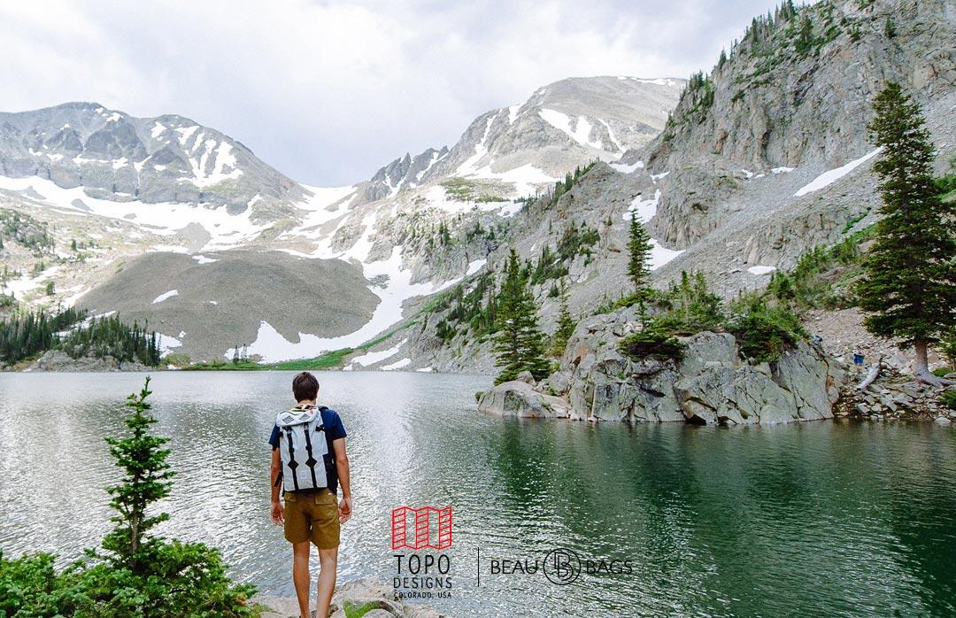 Topo Designs Klettersack Xpac Black Leather ideale rugzak voor wandelen, reizen en backpacken