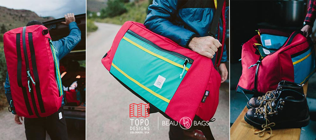Topo Designs Mountain Duffel 60 Liters, is perfect for weekend trips