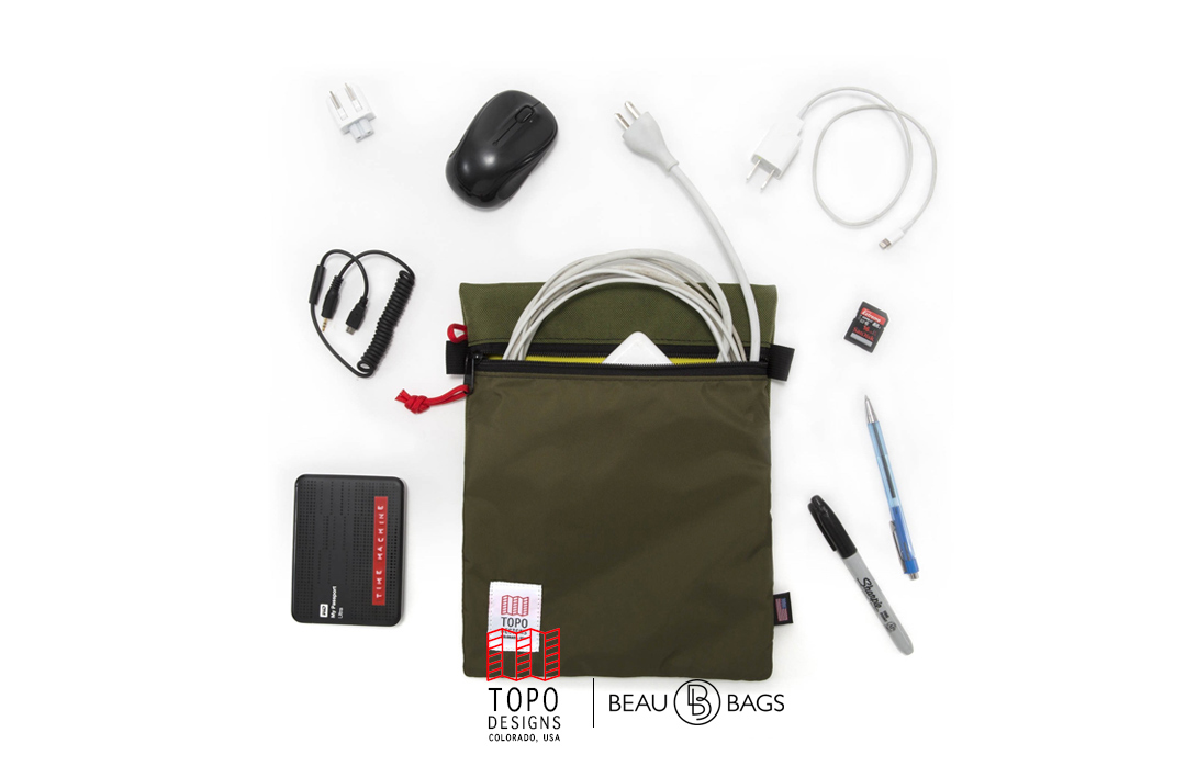 Topo Designs Utility Bag, keeps the inside of your pack neat and organized.