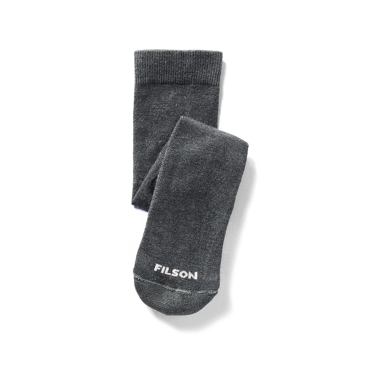 Filson Everyday Crew Sock Charcoal, veelzijdige sokken met medium polstering gemaakt van een merinowolmix