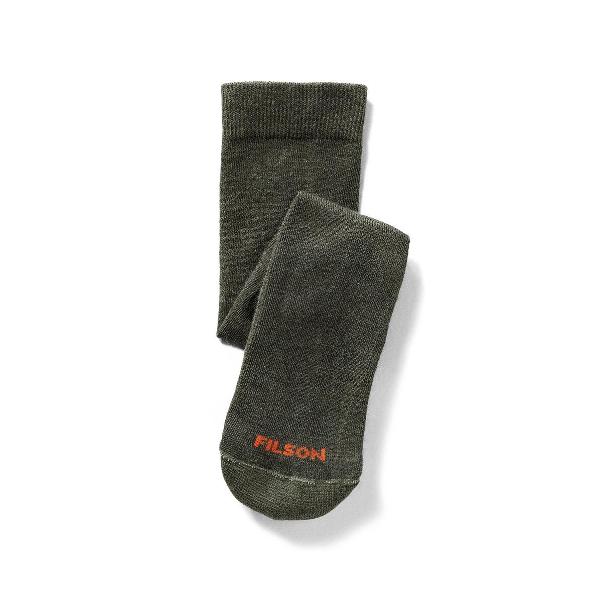 Filson Everyday Crew Sock Green, veelzijdige sokken met medium polstering gemaakt van een merinowolmix