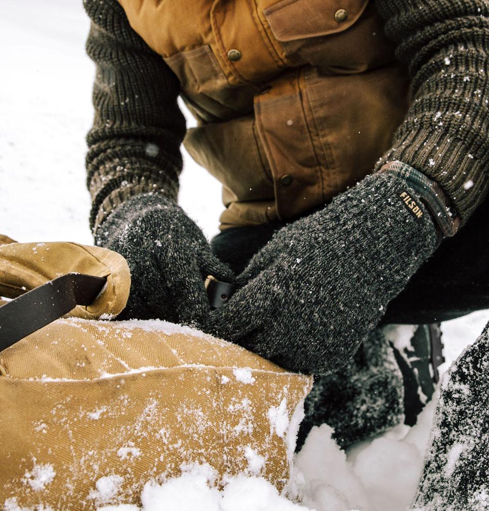 Filson Full Fingers Knit Gloves, Extreem warm, extreem zacht, extreem duurzaam