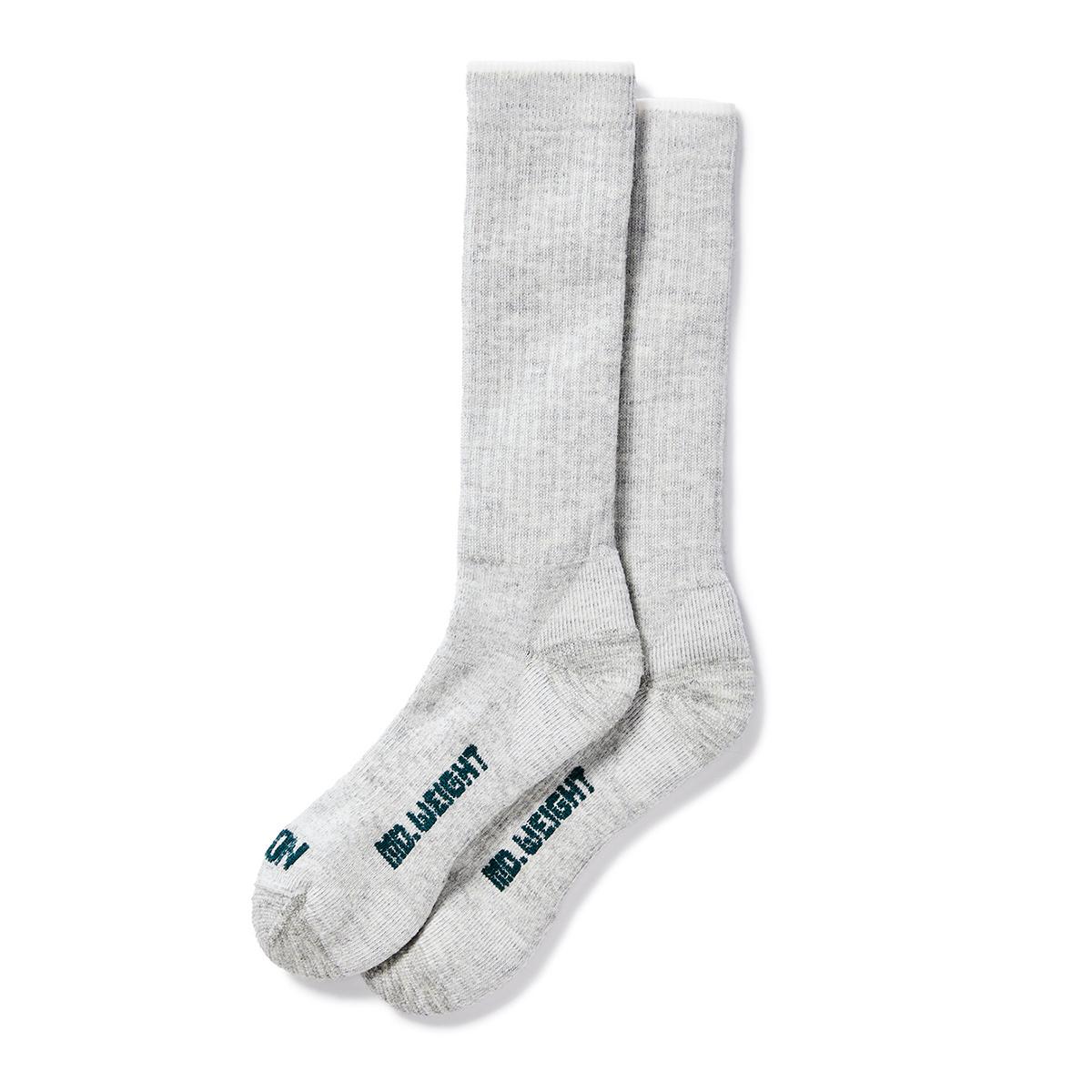Filson Mediumweight Traditional Crew Socks gemaakt van merino wol met een vleugje nylon en spandex