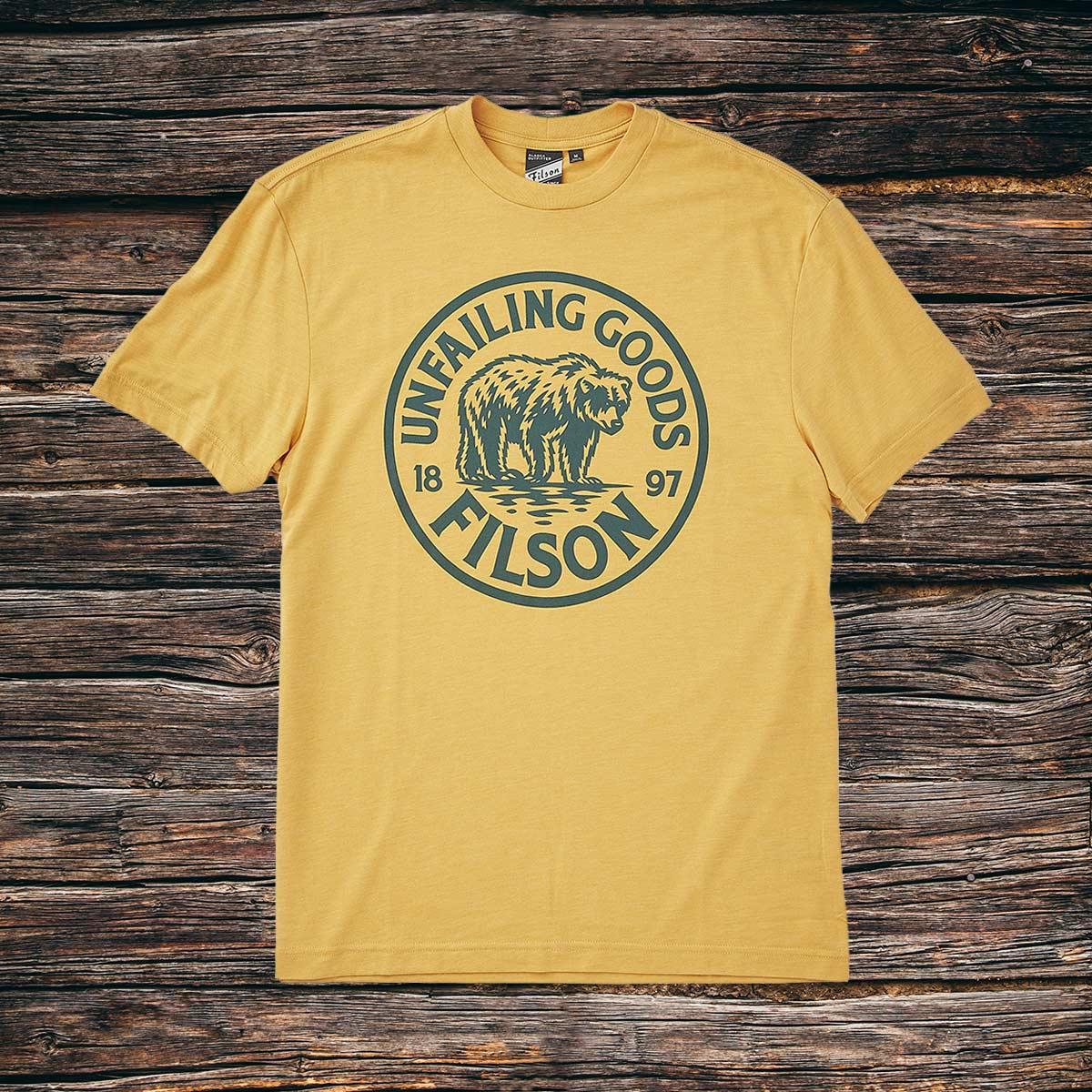 Filson Buckshot T-Shirt Rye, hoogwaardig T-shirt met UPF 50+ zonwering