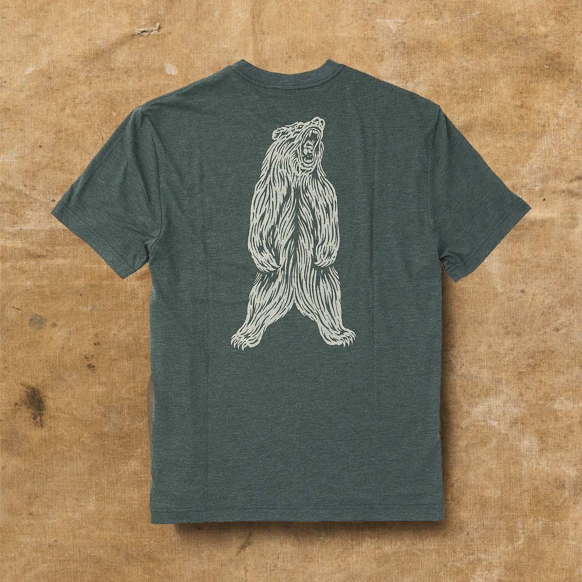 Filson Buckshot T-Shirt Forest Green Heather, hoogwaardig T-shirt met UPF 50+ zonwering