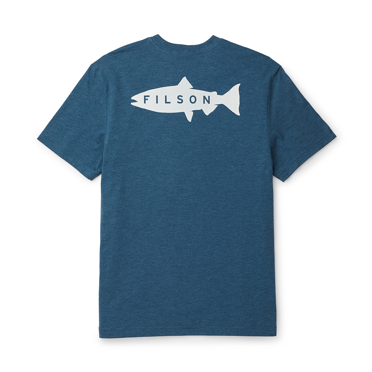 Filson Buckshot T-Shirt Blue Wing Teal, hoogwaardig T-shirt met UPF 50+ zonwering