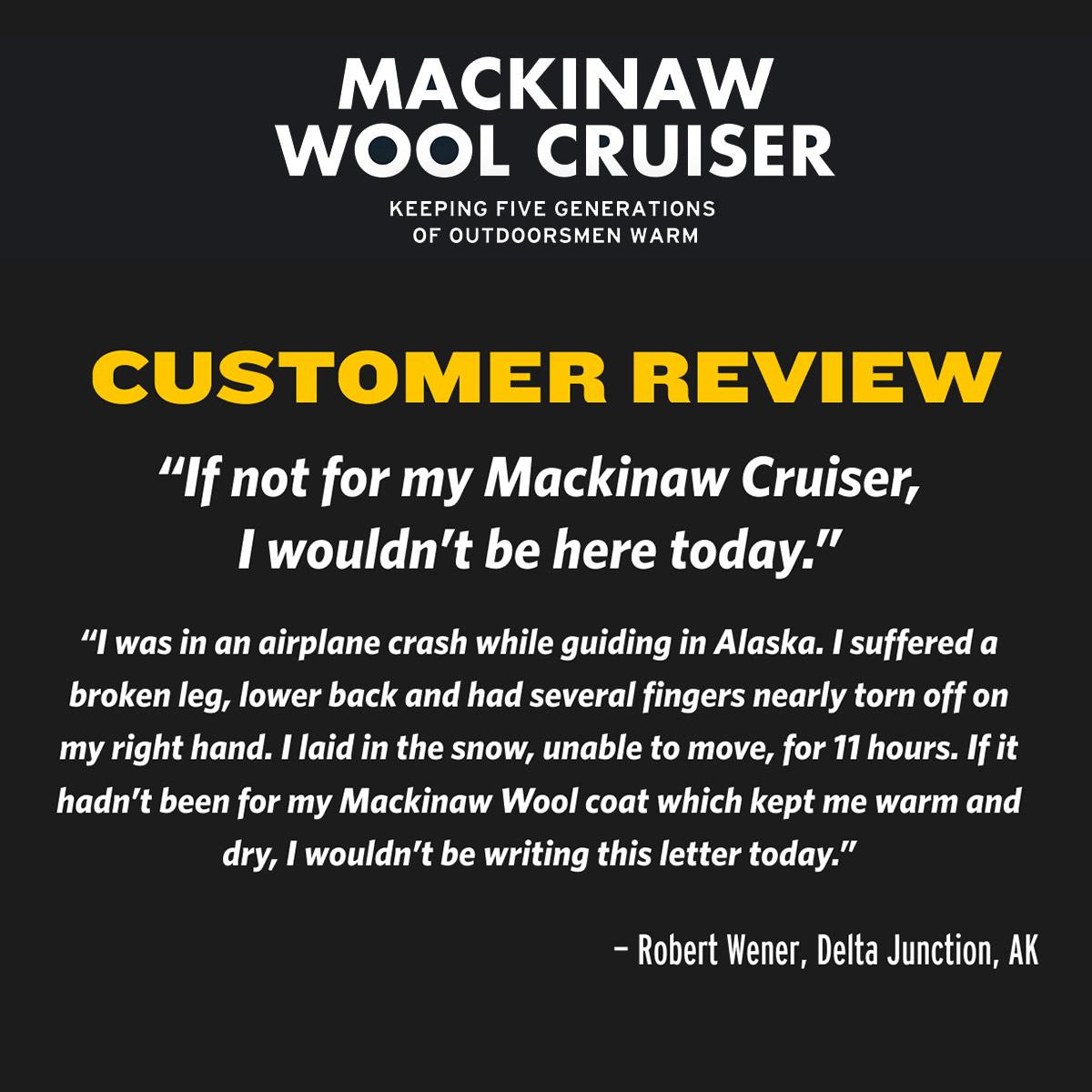 Filson Mackinaw Cruiser Jacket Charcoal, gepatenteerd in 1914 en vandaag de dag nog steeds veel gevraagd.