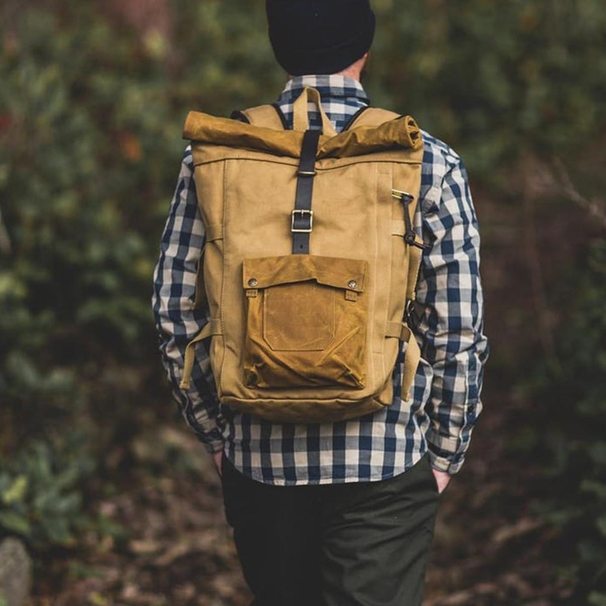 Filson Roll-Top Backpack Tan, buitengewoon mooi gemaakte rugzak, zo zie je ze maar weinig