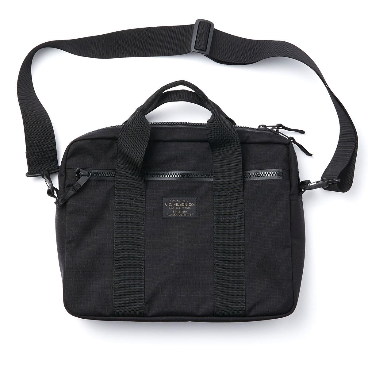 Filson Ripstop Nylon Compact Briefcase 20203678-Black, compact en gestroomlijnd voor zakelijke benodigdheden