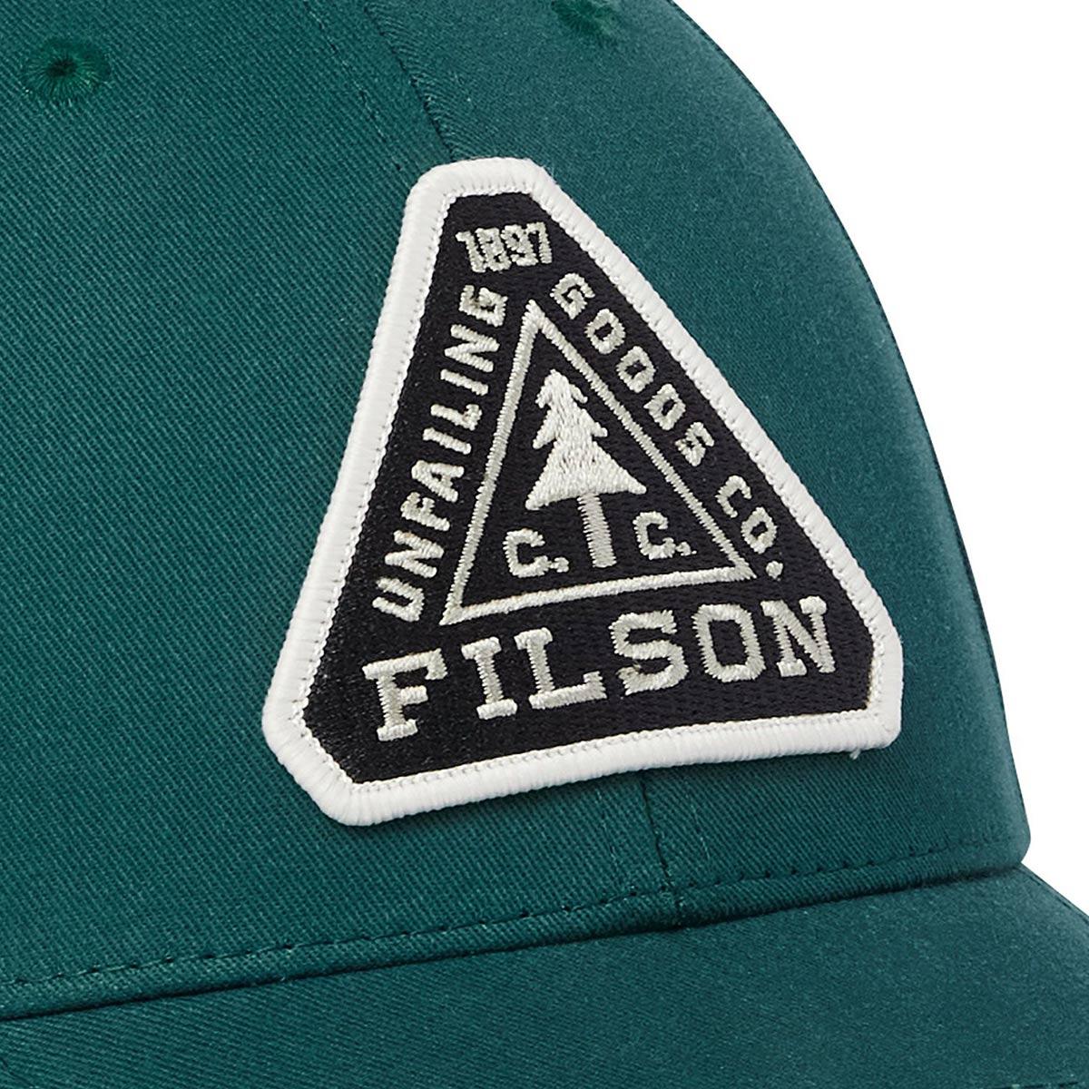 Filson Logger Cap Mallard Green, klassieke pet die beschermt tegen de elementen