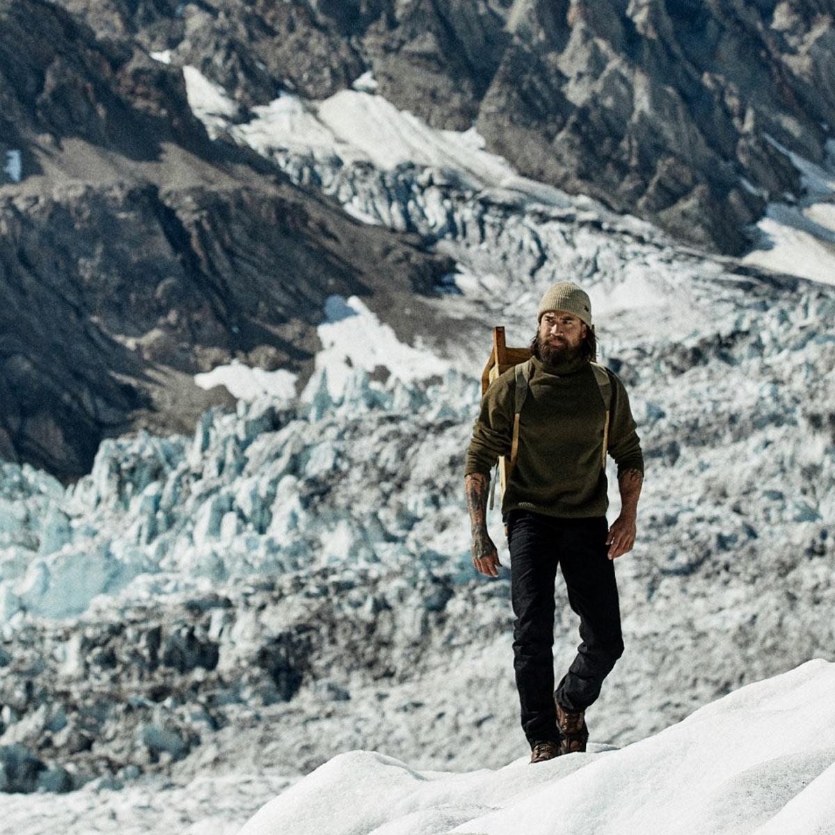 Filson Watch Cap Sawdust op de gletser