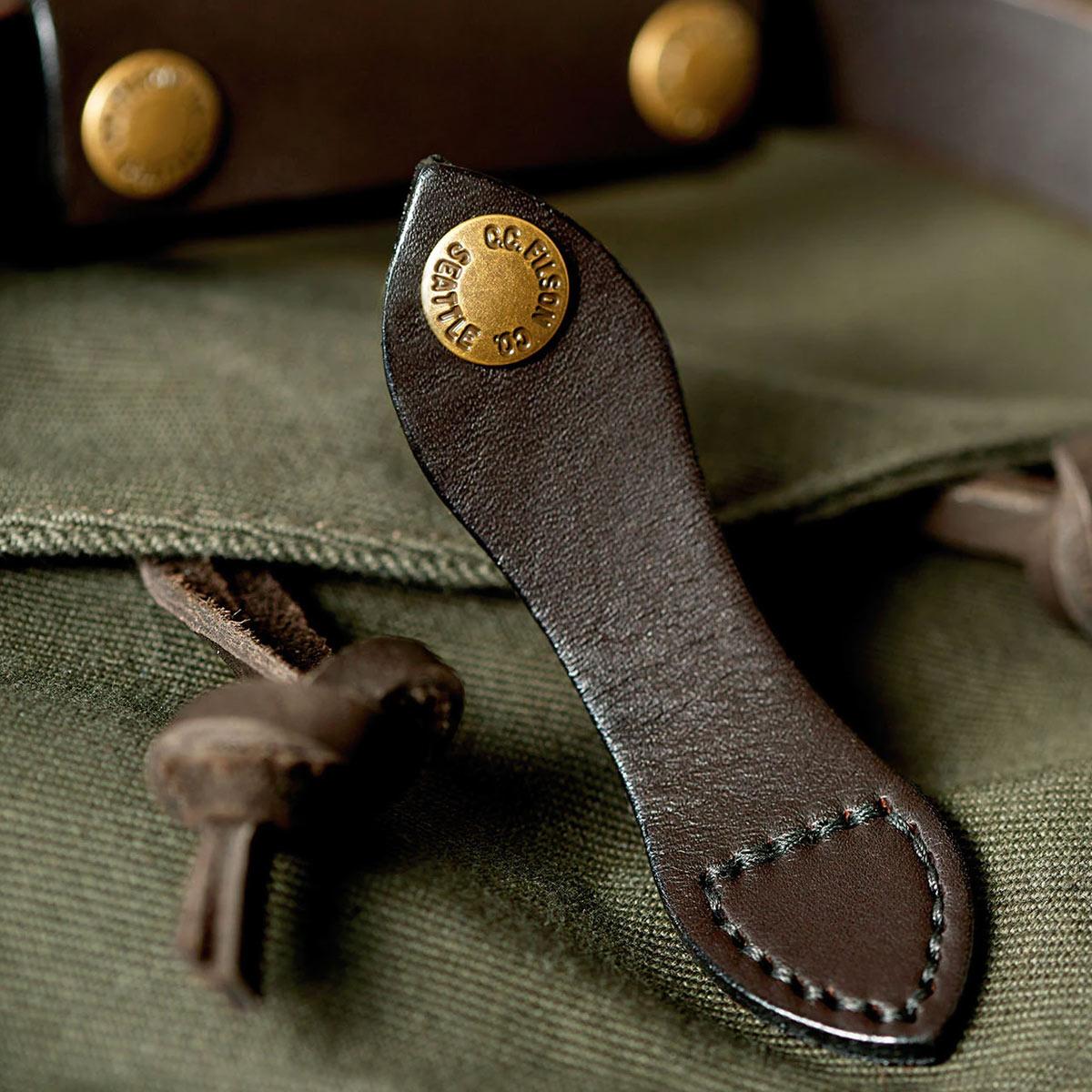 Filson Duffle Small Otter Green, vakmanschap tot in perfectie