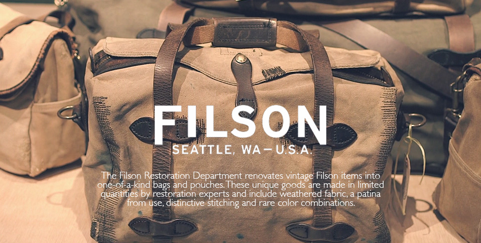 About Filson and the unique restoration department