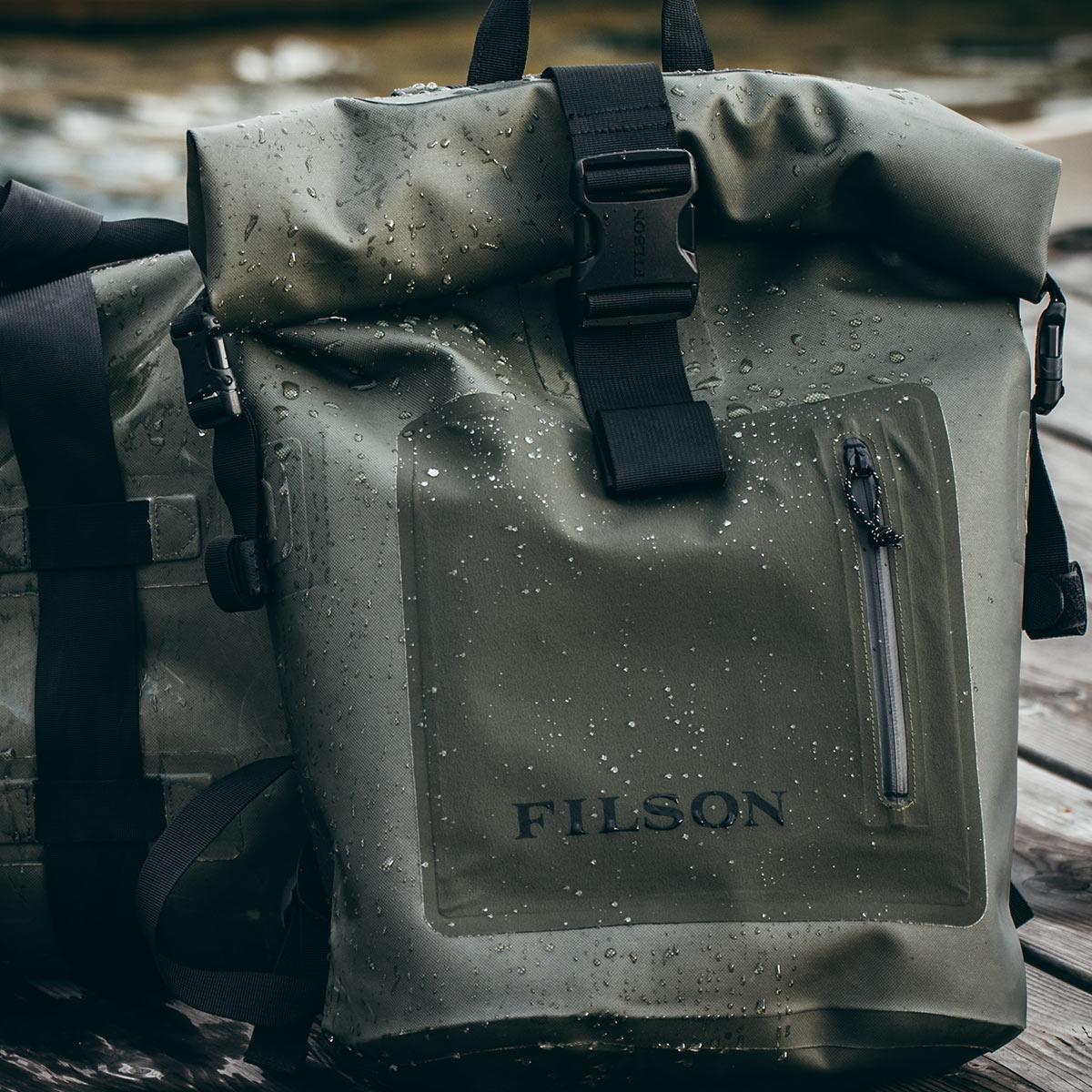 Filson Dry Backpack, houdt je uitrusting droog in alle weersomstandigheden