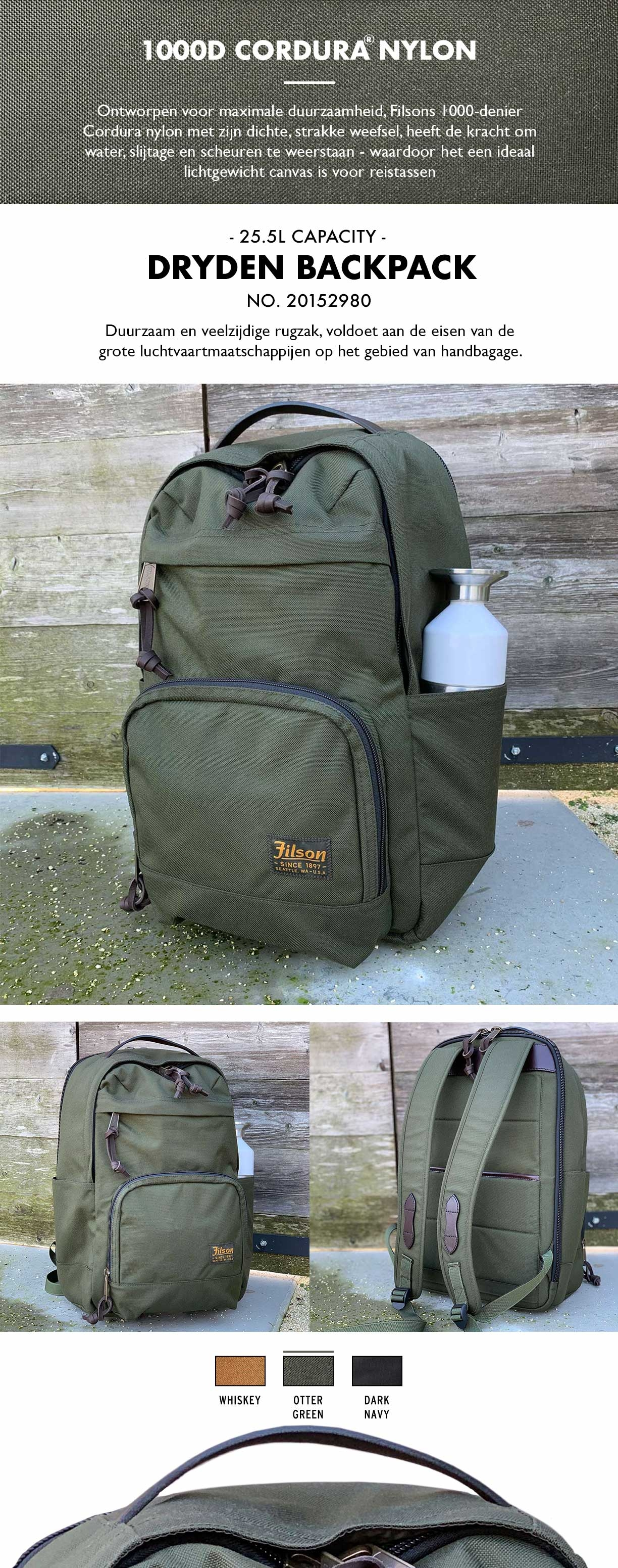 Filson Dryden Backpack Otter Green Product-informatie