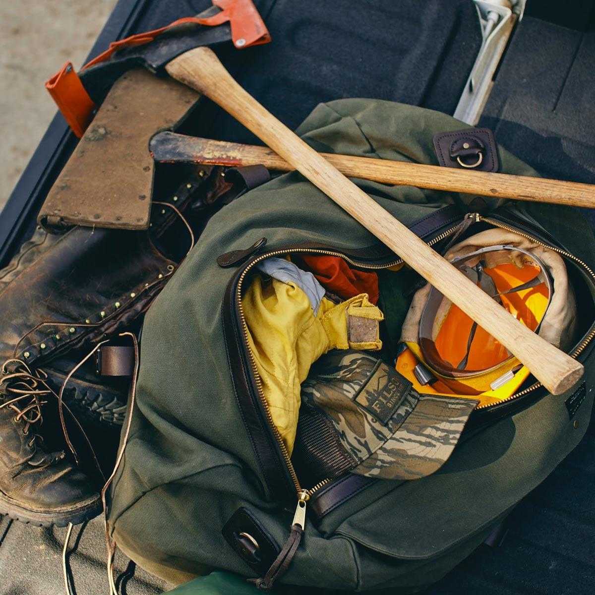 Filson Duffle Medium Otter Green, stoere duffel die voldoet aan de maximale handbagage afmetingen