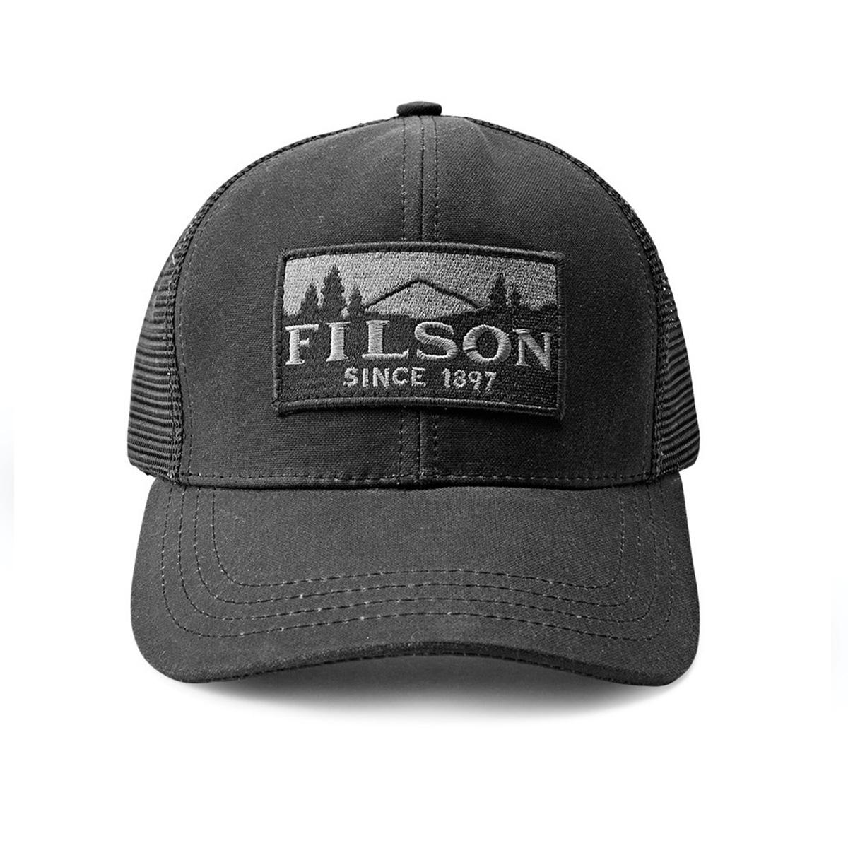 Filson Logger Mesh Cap 11030237-Black, duurzame pet gemaakt van iconisch, waterafstotende Tin Cloth,