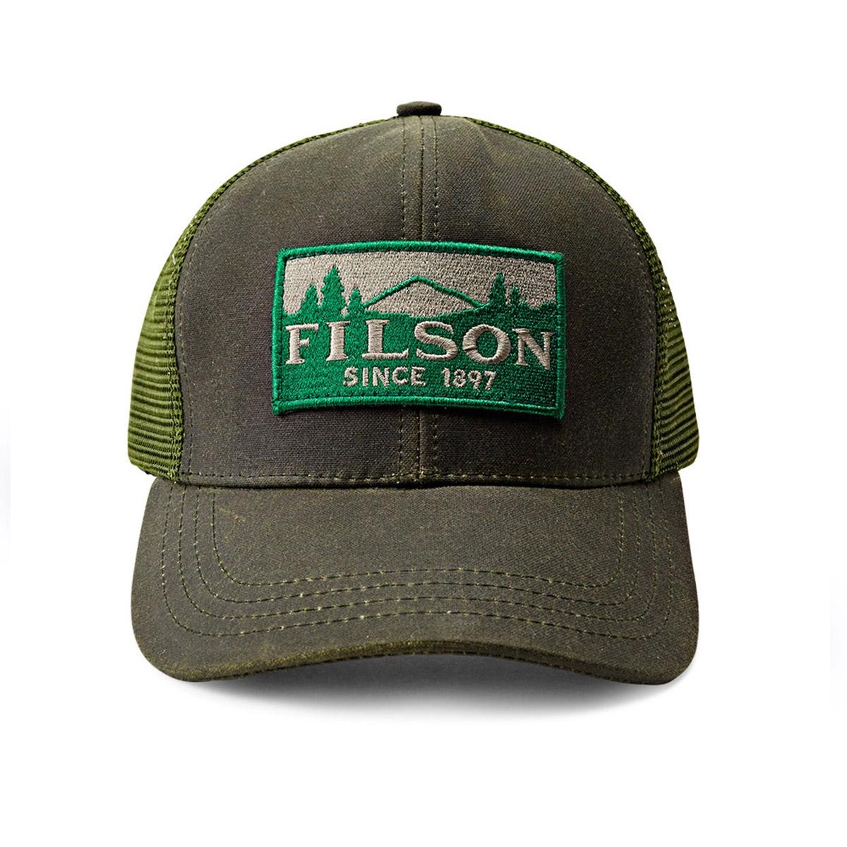 Filson Logger Mesh Cap 11030237-Otter Green, duurzame pet gemaakt van iconisch, waterafstotende Tin Cloth