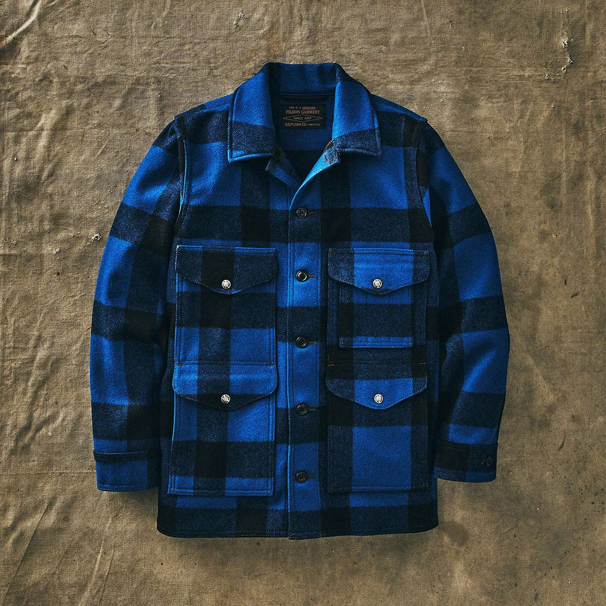 Filson Mackinaw Cruiser Jacket Cobalt Black