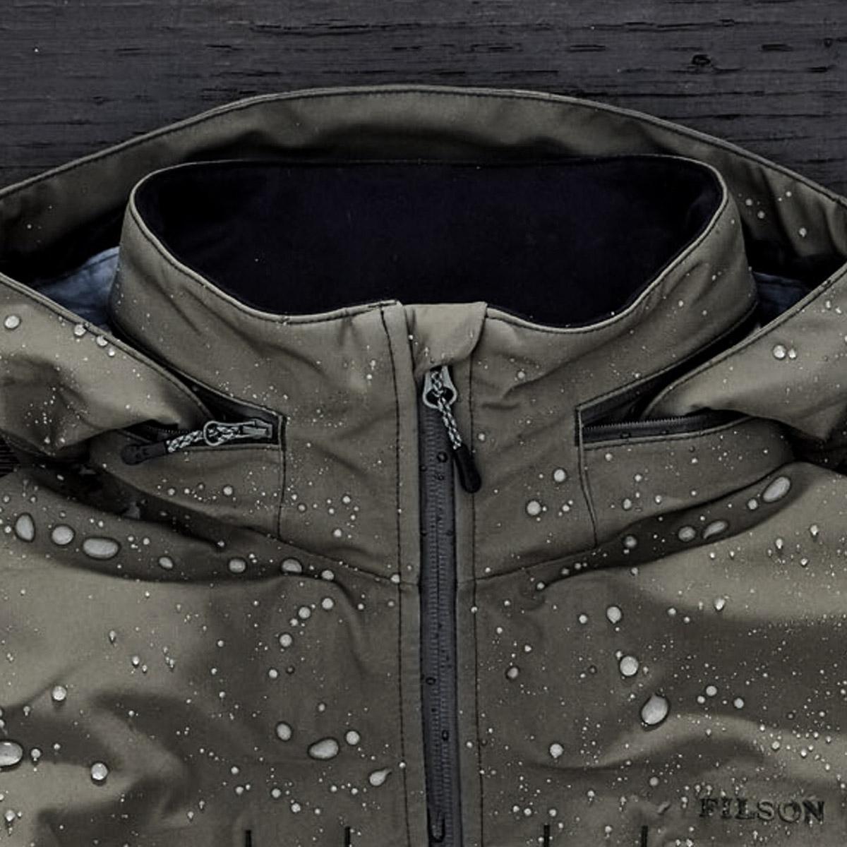 Filson Neoshell Reliance Jacket Raven, comfortabel, waterdicht en zeer goed ademende jas