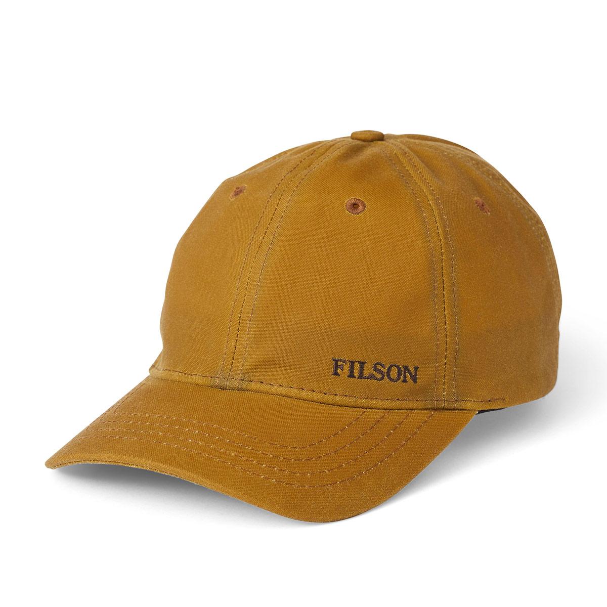 Filson Oil Tin Low-Profile Cap 20172158 Tan, om jaren dienst te doen