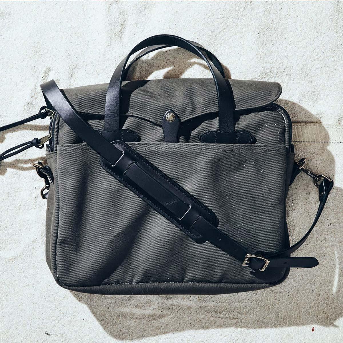 Filson Original Briefcase 11070256 Cinder, lifestyle
