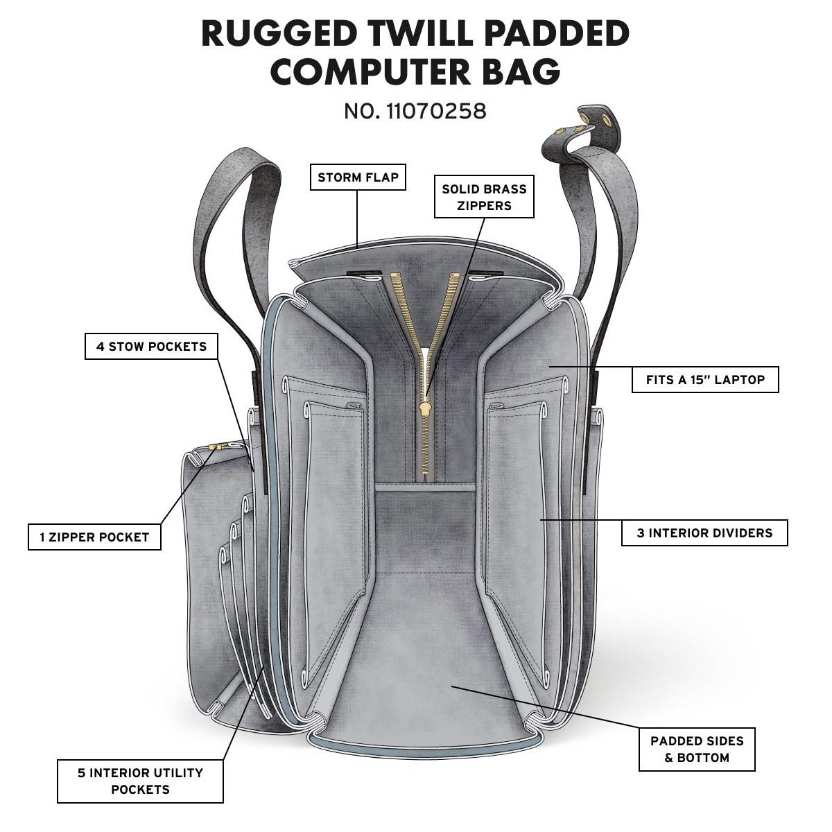 Filson Padded Computer Bag extra informatie