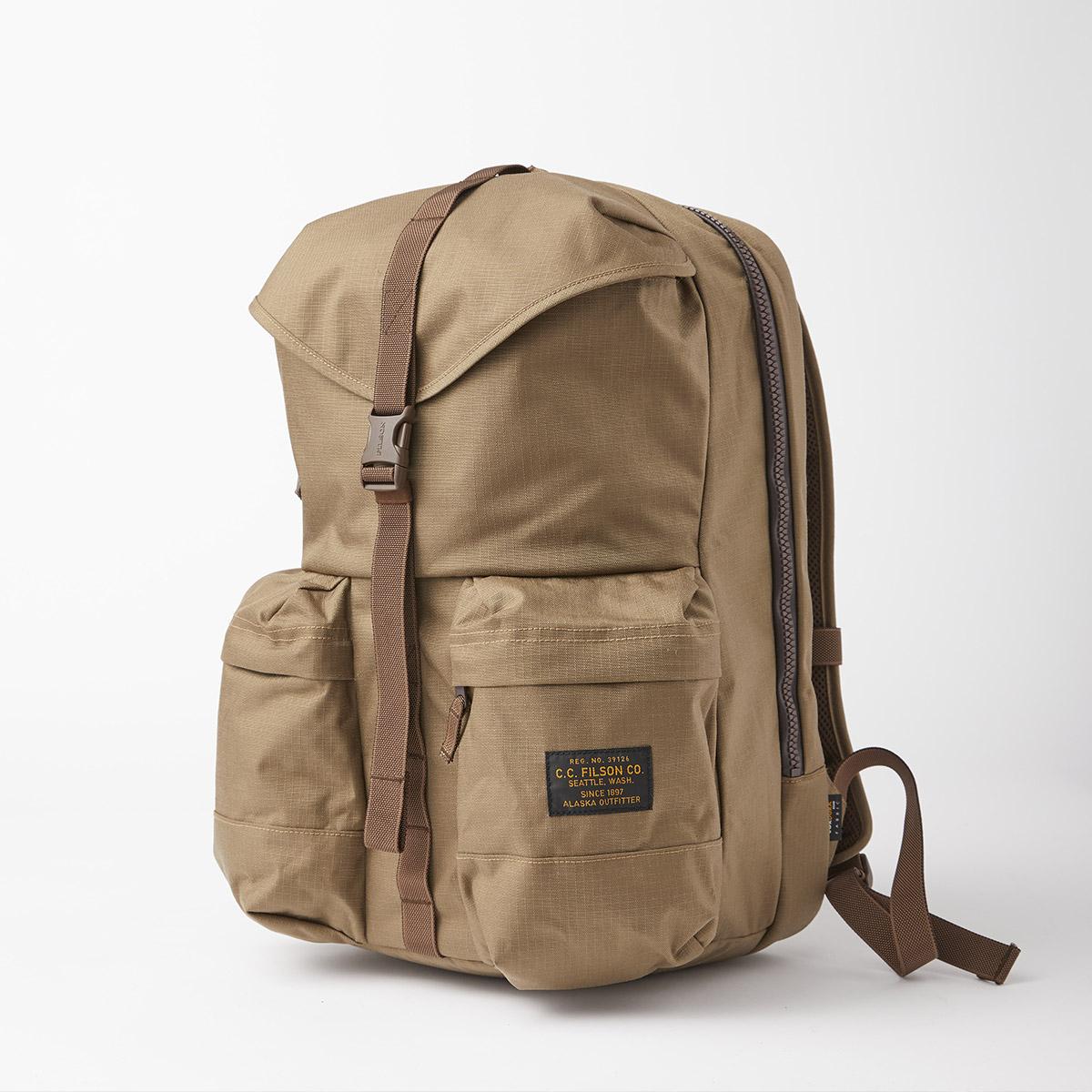 Filson Ripstop Backpack 20115929 Field Tan, Lichtgewicht en stoer, ontworpen voor comfort op lange tochten