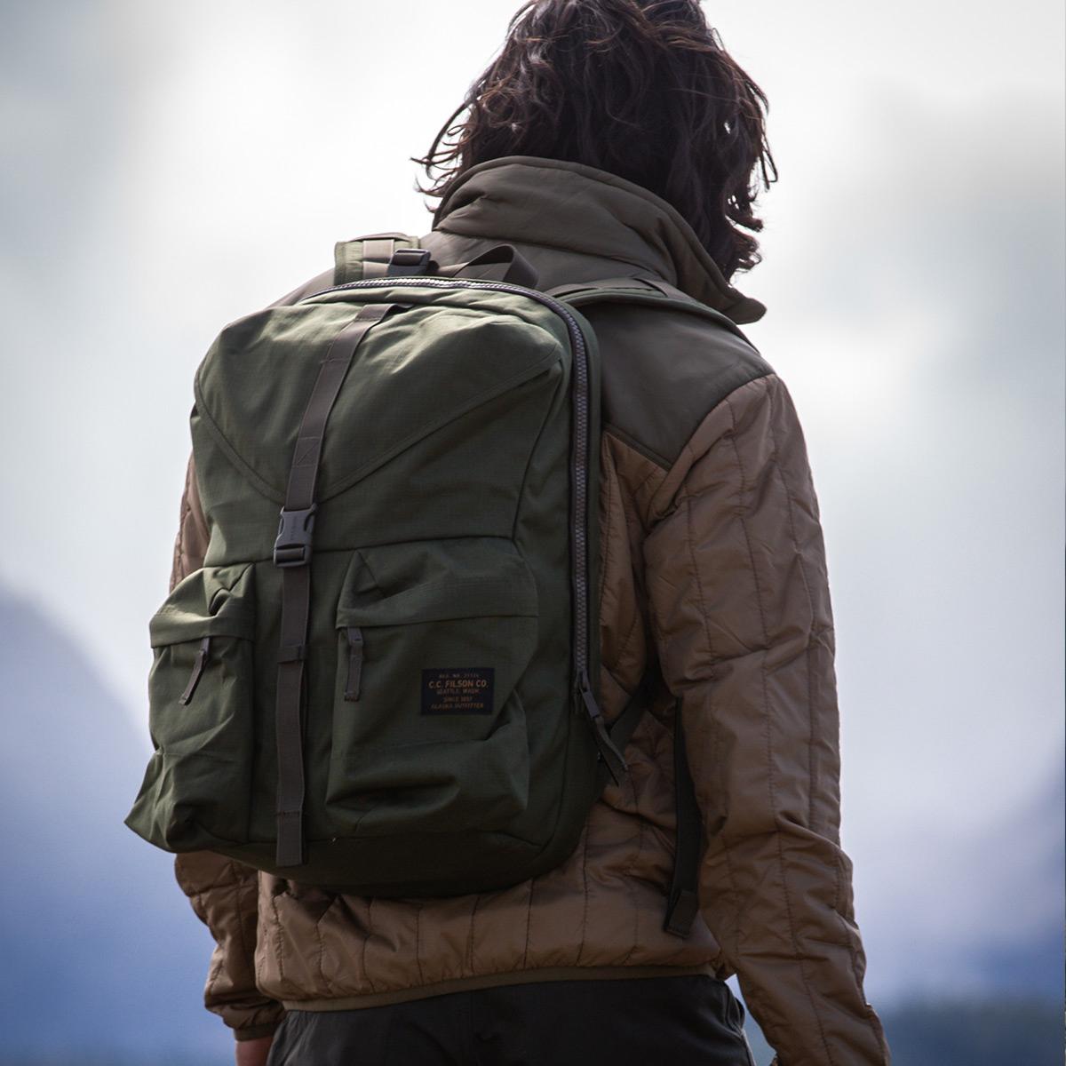 Filson Ripstop Backpack 20115929 Surplus Green, Lichtgewicht en stoer, ontworpen voor comfort op lange tochten